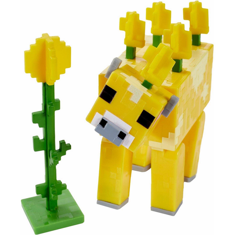 Купить Minecraft® Базовые фигурки в упаковке 2 шт. GTP08/GTP11 Лютиковая корова, Mattel,