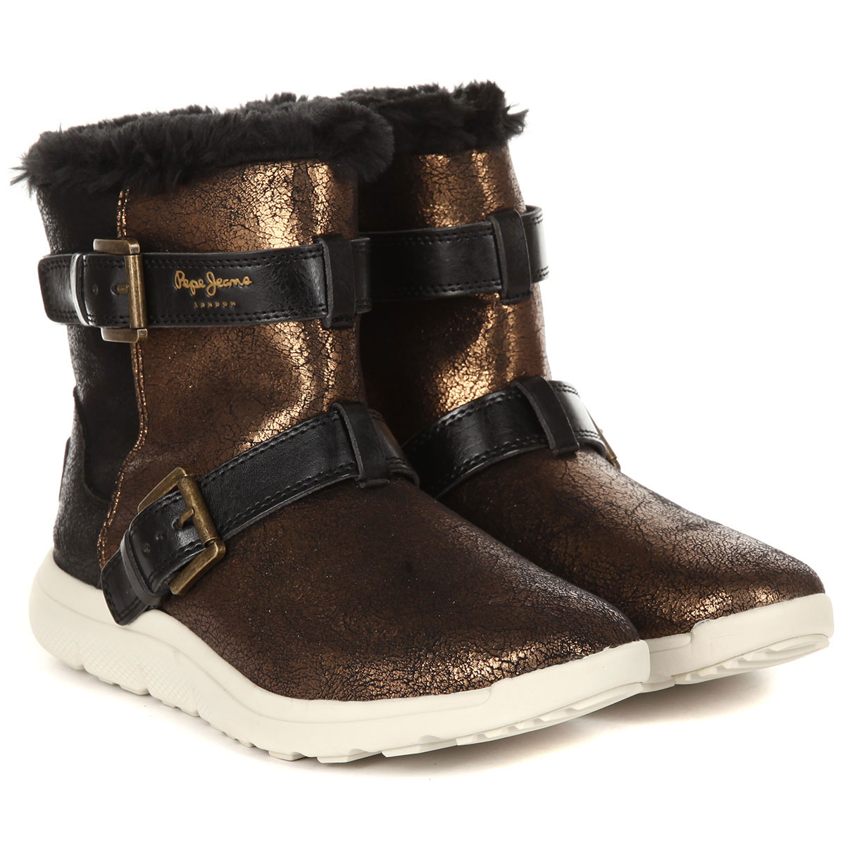 Полусапоги женские Pepe Jeans HYKE W SNOW PLS30762 золотистые 38 EU