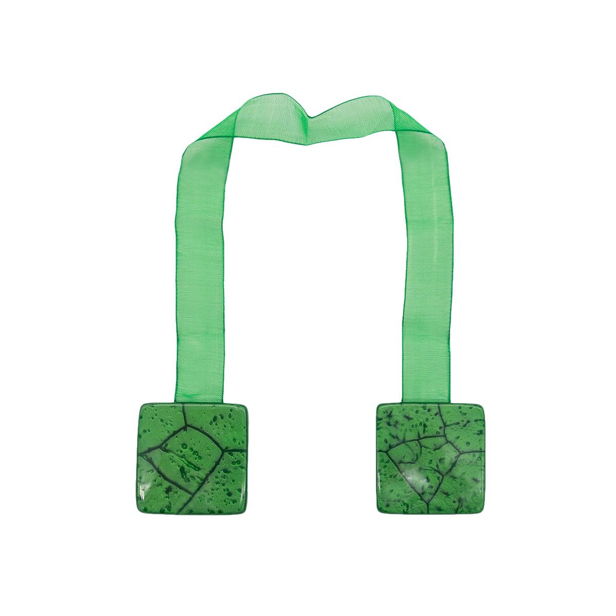 Клипса магнит W55 для штор 1 зеленый