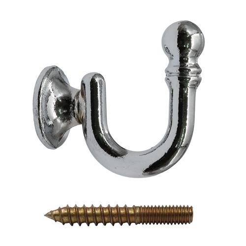 Крючки под подхваты, d 19мм 4 серебро
