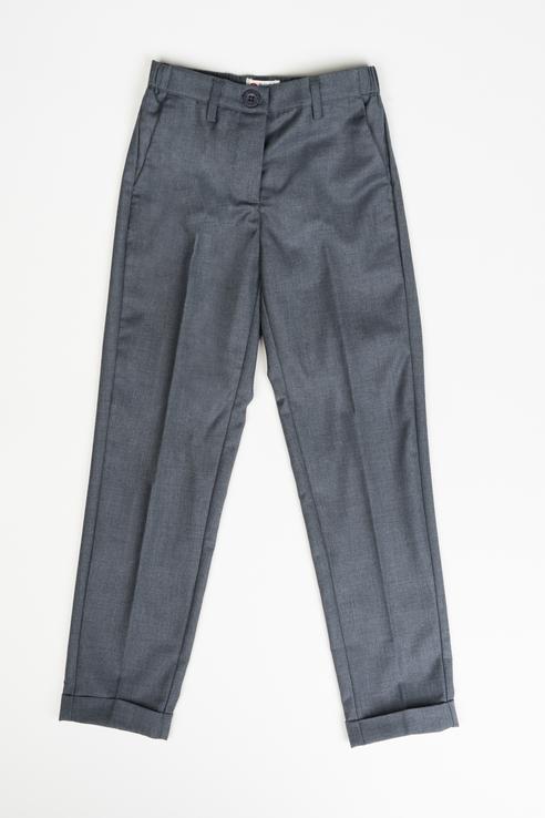Купить 219BBGS63010100, Брюки для девочки Button Blue, цв.серый, р-р 128,