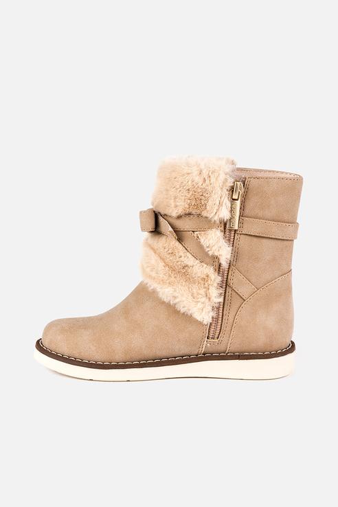 Купить 46845, Ботинки для девочки Mayoral, цв.бежевый, р-р 35, Детские ботинки