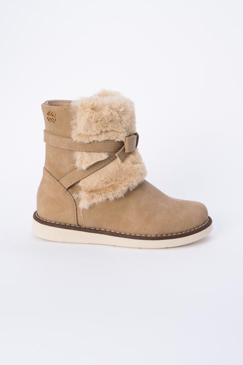 Купить 44845, Ботинки для девочки Mayoral, цв.бежевый, р-р 30, Детские ботинки