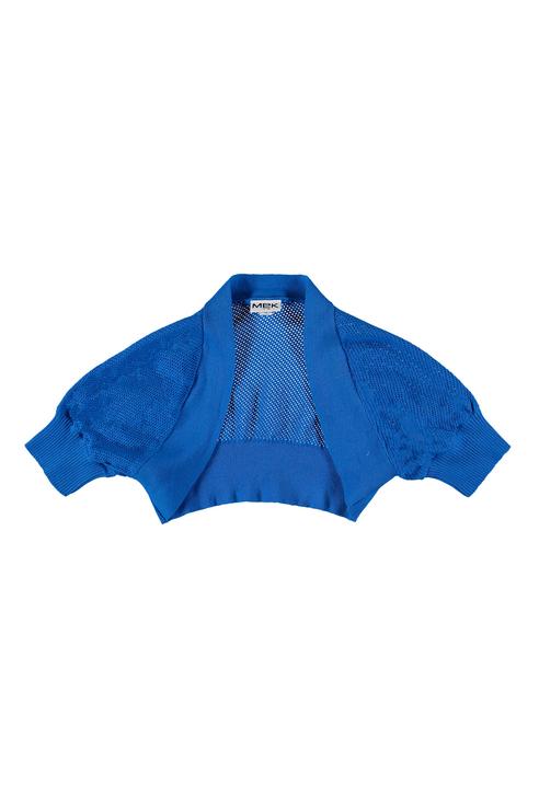Купить 191MIHC001, Болеро для девочки MEK, цв.синий, р-р 128,