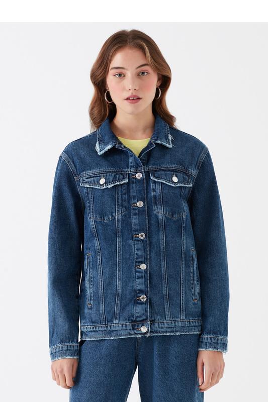 Джинсовая куртка женская Mavi 110154-30105 синяя XS