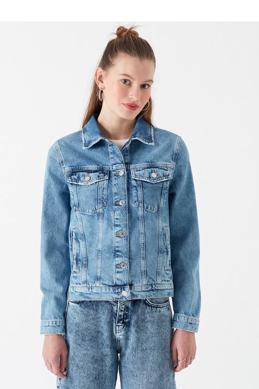 Джинсовая куртка женская Mavi 110544 синяя XS