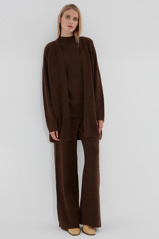 Кардиган женский ZARINA 420637827 коричневый XS