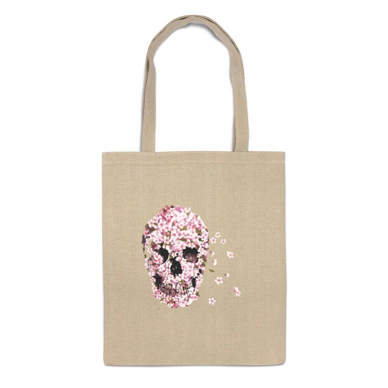 Сумка-шоппер Printio Цветочный череп 793820