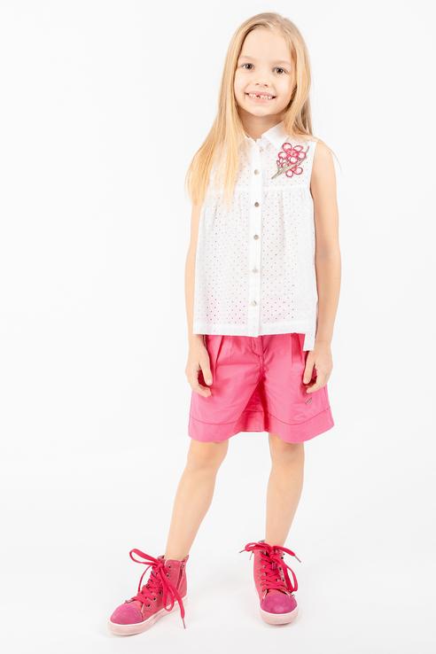 Купить 11902GMC2202, Блузка для девочки Gulliver, цв.белый, р-р 116,