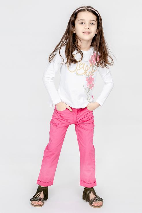 Купить 11902GMC1207, Блузка для девочки Gulliver, цв.белый, р-р 116,