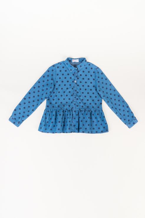 Купить 219BBGC2201D204, Блузка для девочки Button Blue, цв.голубой, р-р 128,
