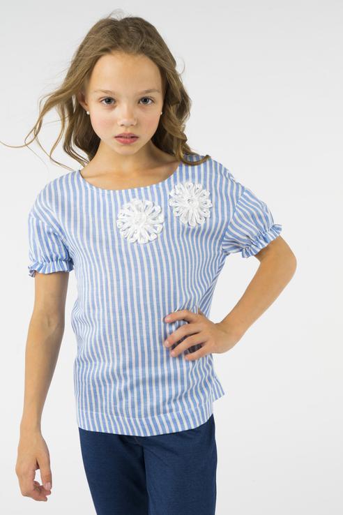 Блузка для девочки BAON, цв.голубой, р-р 134