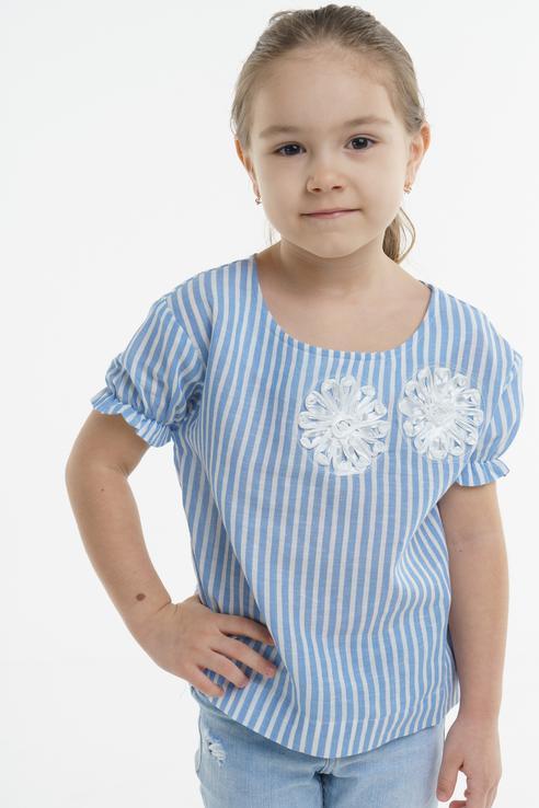 Блузка для девочки BAON, цв.голубой, р-р 110 BK198002