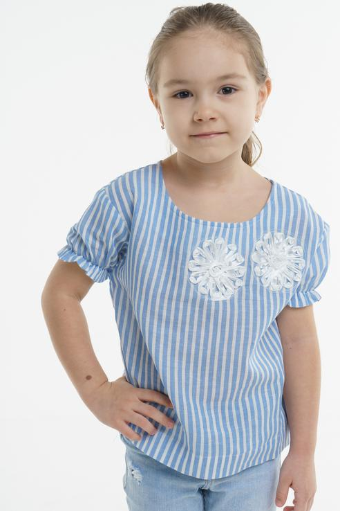 Блузка для девочки BAON, цв.голубой, р-р 122 BK198002