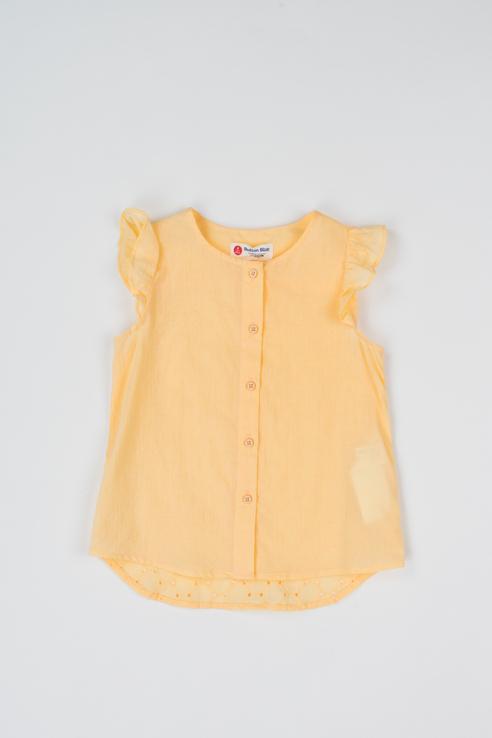Купить 119BBGC22022700, Блузка для девочки Button Blue, цв.желтый, р-р 116,