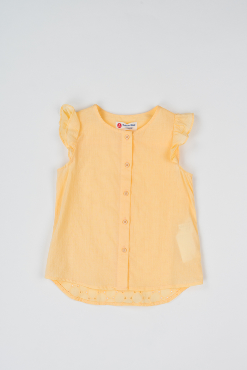 Купить 119BBGC22022700, Блузка для девочки Button Blue, цв.желтый, р-р 128,