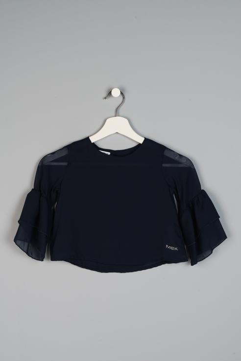 Купить 191MIDC001, Блузка для девочки MEK, цв.синий, р-р 128,