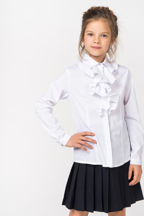 Блузка для девочки Gulliver, цв.белый, р