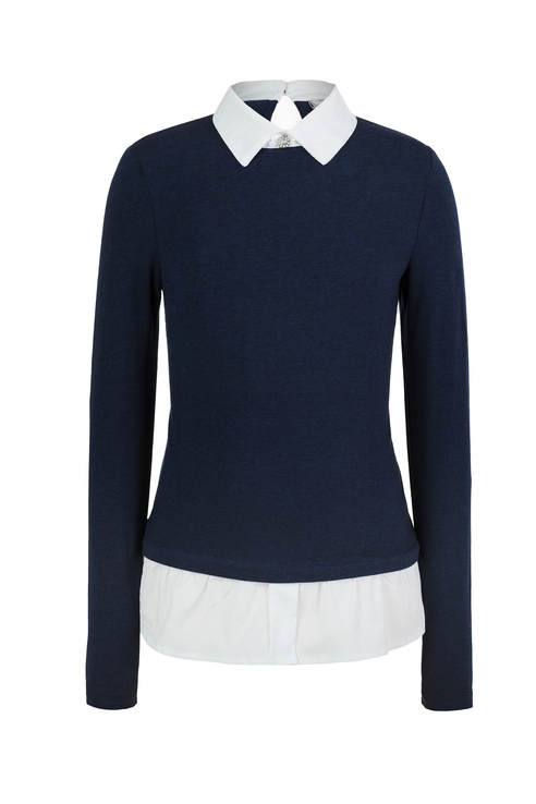 Блузка для девочки Gulliver, цв.синий, р