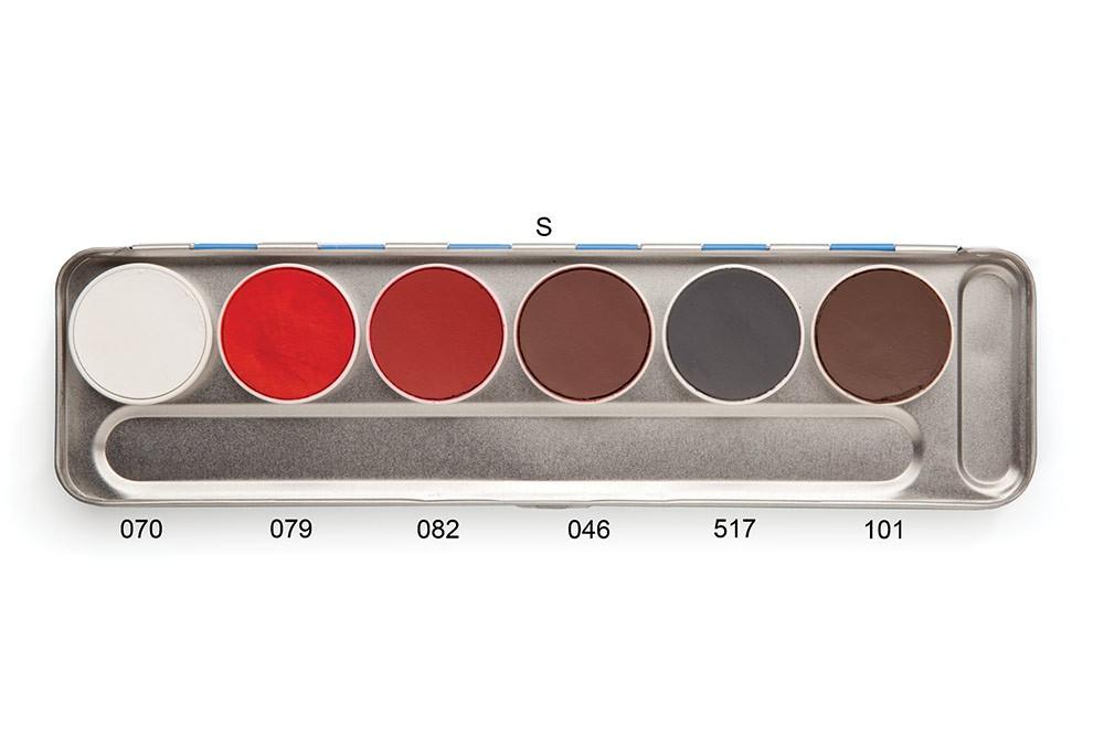 Аквагрим в палитре 6 цв./Aquacolor Palette
