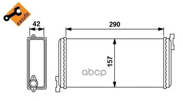 Радиатор печки NRF 54240
