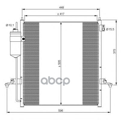Радиатор кондиционера NRF 35871