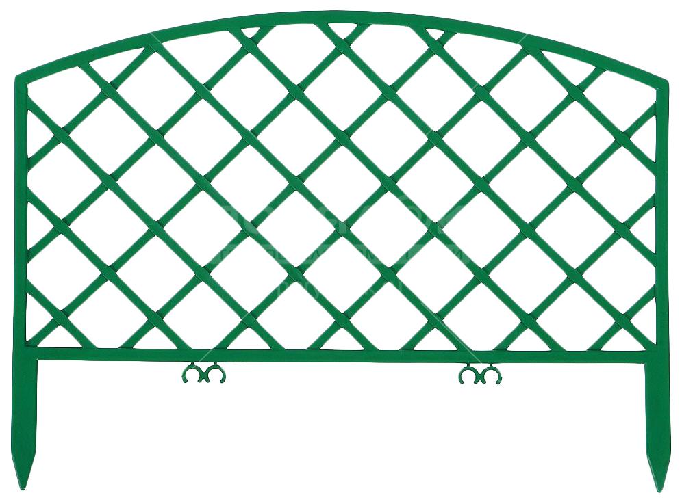 Заборчик пластмассовый Плетенка зеленый