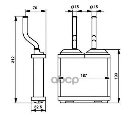 Радиатор печки NRF 52103