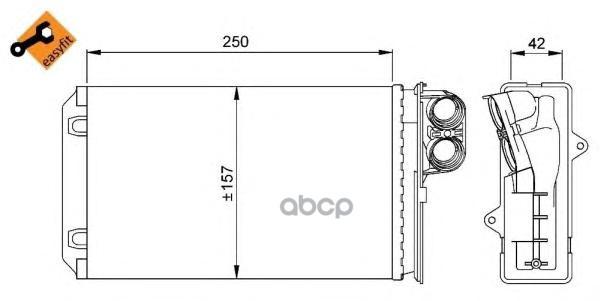 Радиатор печки NRF 58629