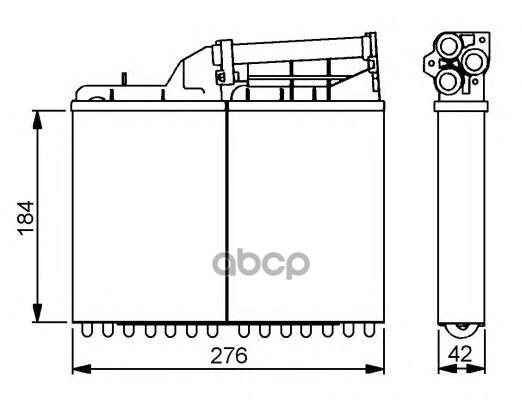 Радиатор печки NRF 58053