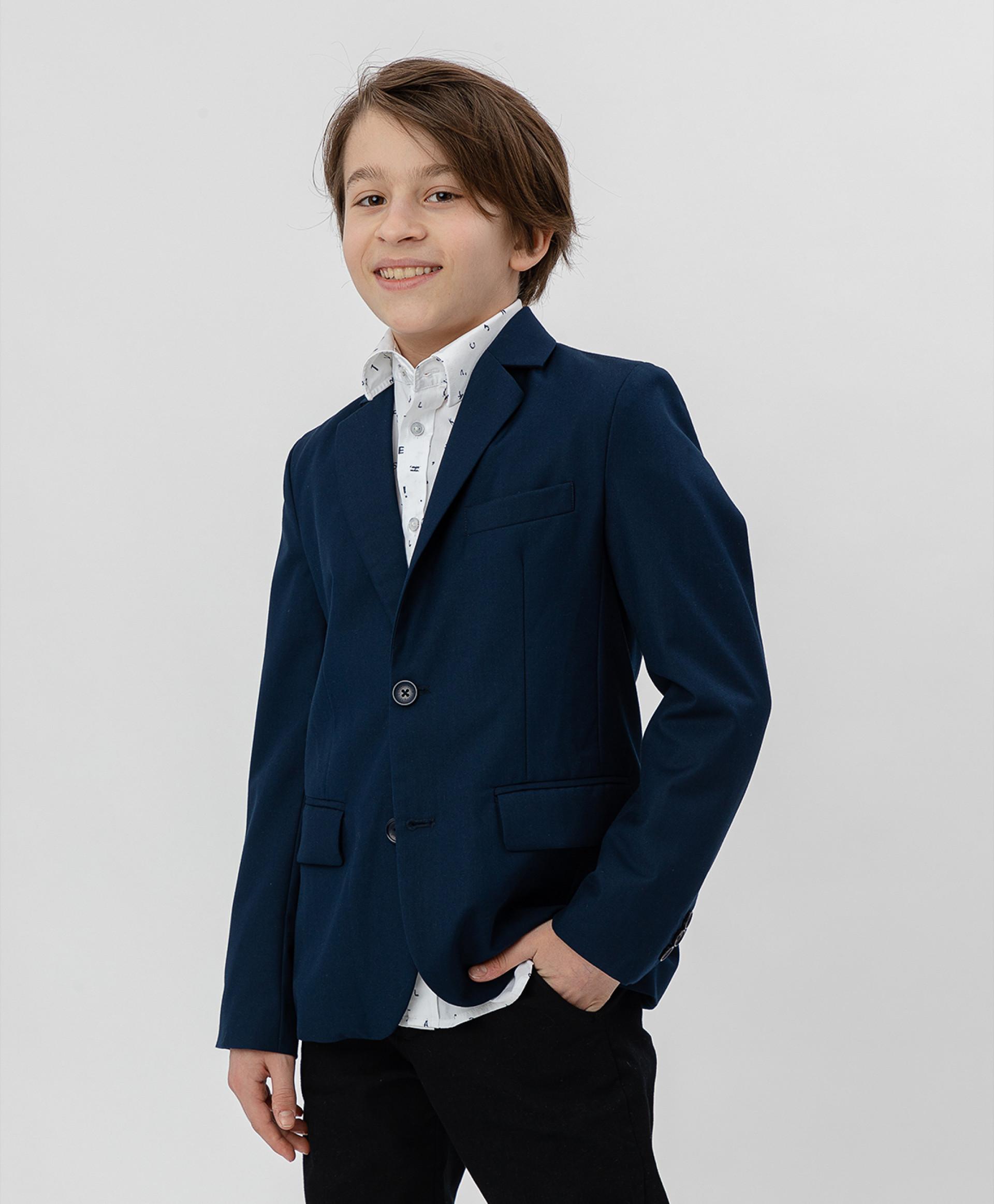 Купить Синий пиджак BUTTON BLUE 220BBBS48011000, размер 152,
