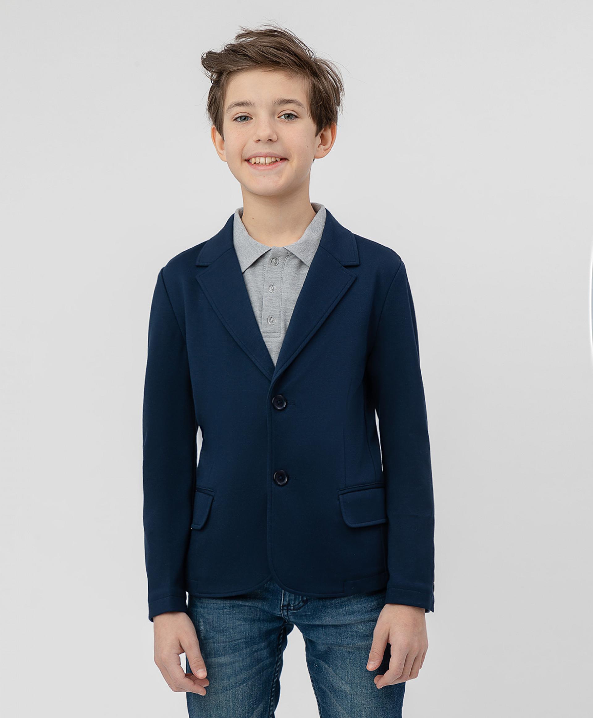 Синий трикотажный пиджак BUTTON BLUE 220BBBS19011000, размер