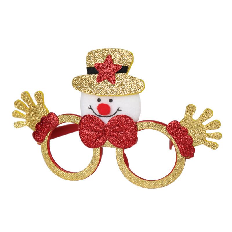 Очки карнавальные Феникс-Презент Снеговик со звездой 80618
