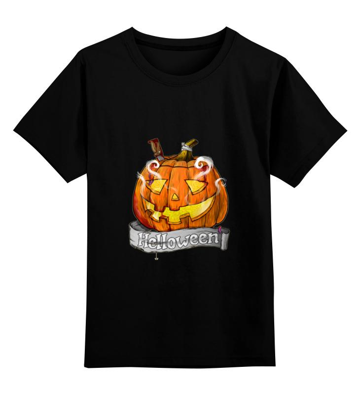 Купить 0000000673832, Детская футболка классическая Printio Helloween, р. 104,