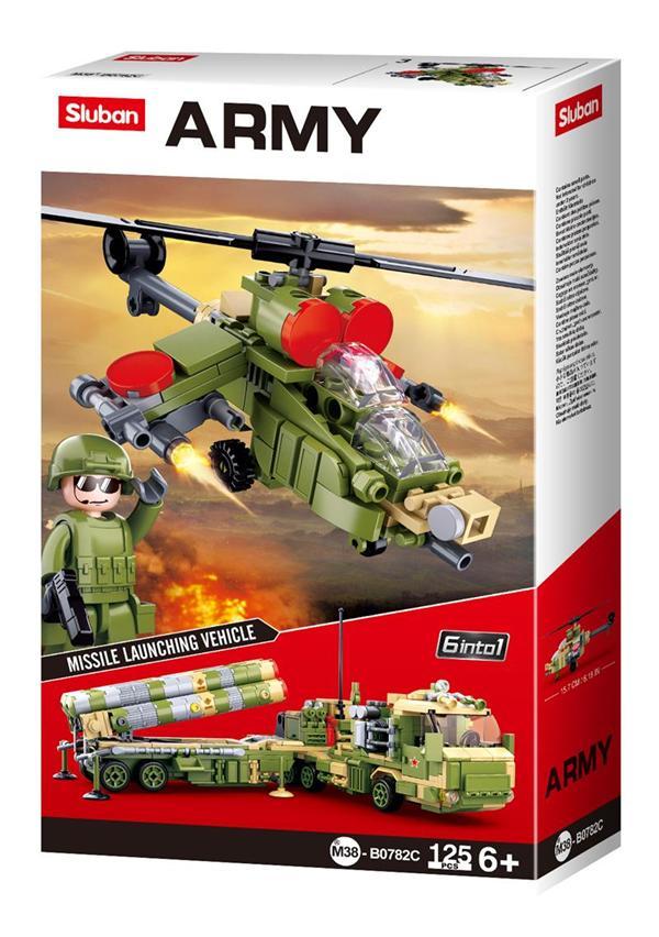 Конструктор Sluban Армия Вертолет, 125 деталей