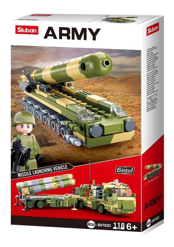 Конструктор Sluban Армия Ракетная установка, 118 деталей