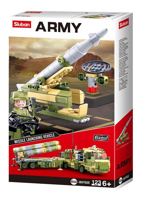 Конструктор Sluban Армия Ракетная установка, 123 детали