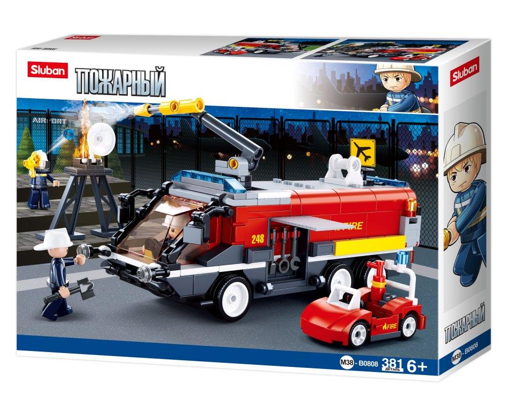Конструктор Sluban Аэродромная пожарная машина, 381 деталь