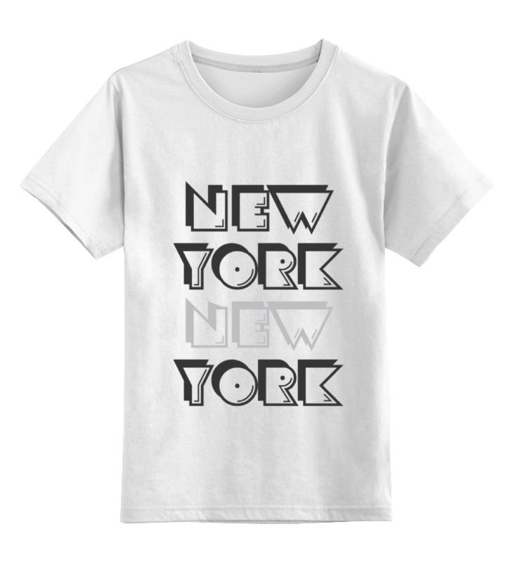 Купить 0000000672947, Детская футболка классическая Printio New york, р. 164,