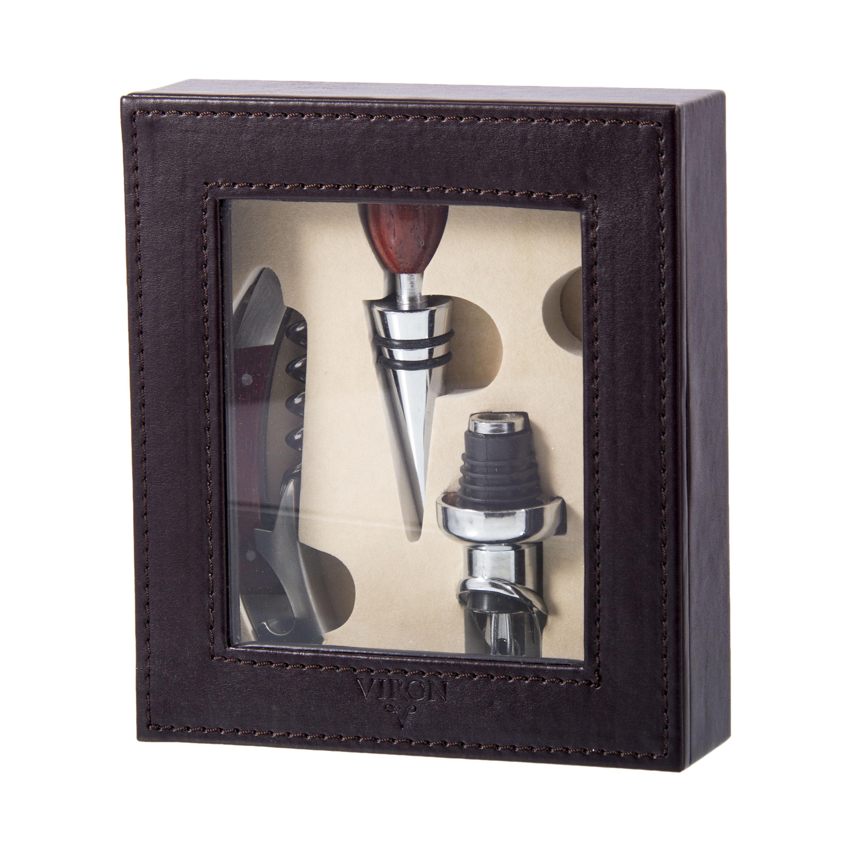 Подарочный набор сомелье : пробка, штопор, воронка,