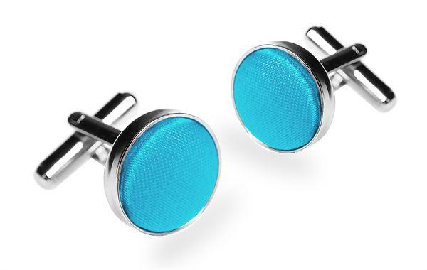 Запонки 2beMan ZP107 голубые