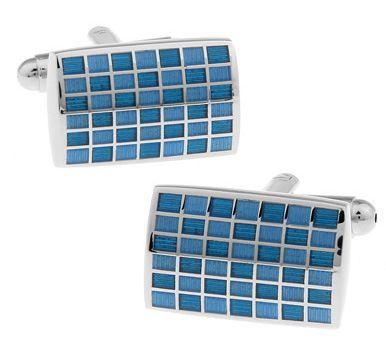 Запонки 2beMan ZP127 голубые