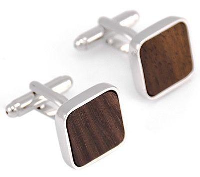 Запонки 2beMan ZP160 коричневые