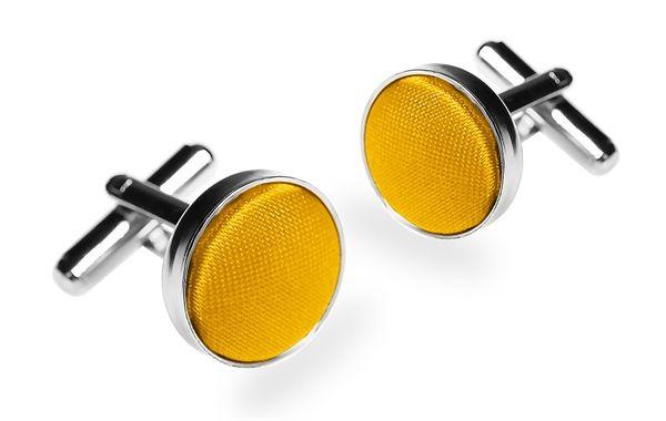 Запонки 2beMan ZP19 желтые