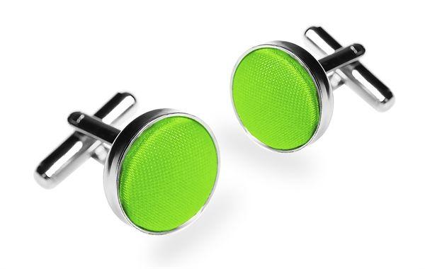 Запонки 2beMan ZP21 зеленые