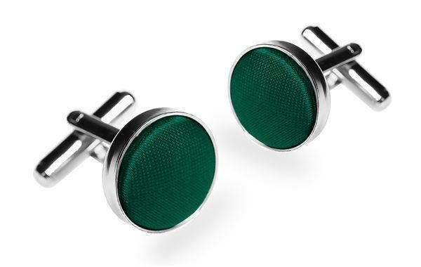 Запонки 2beMan ZP22 зеленые