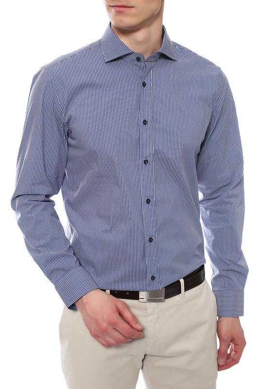Рубашка мужская JOOP 1701633/225 синяя 40 DE