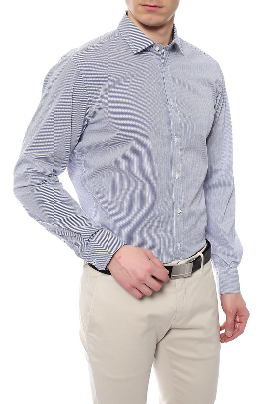 Рубашка мужская JOOP 1701634/225 синяя 40 DE