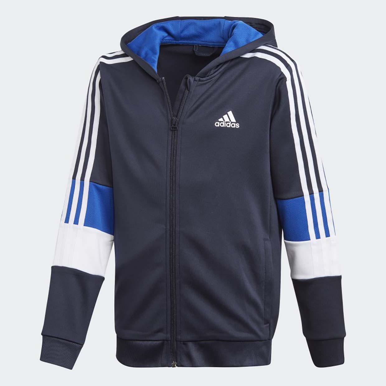 Купить Толстовка Adidas B A.R. 3S Full Zip Hooded GE0560 синий р.110,