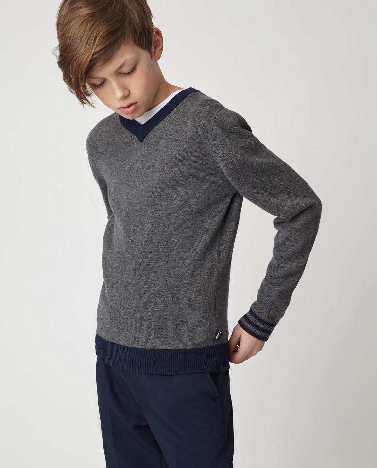 Серый джемпер Gulliver цв. серый 164
